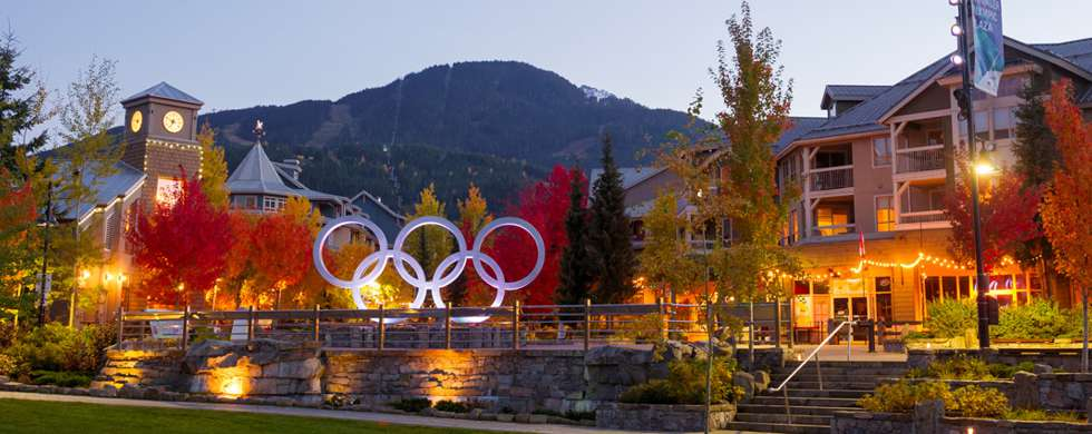 Whistler Village Olympic Rings