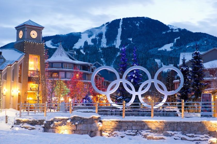 Whistler Village Winter Olympic Rings