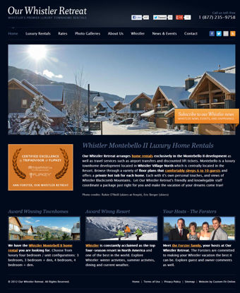 Our Whistler Retreat Website