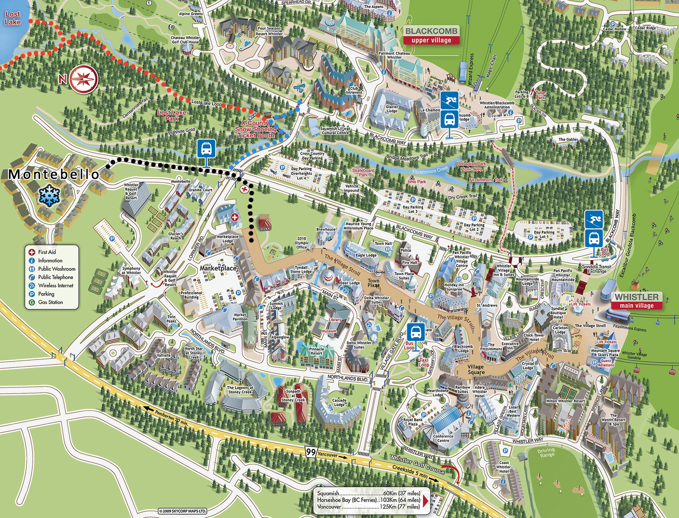 Whistler Village Map Whistler Village Map | Our Whistler Retreat Whistler Village Map