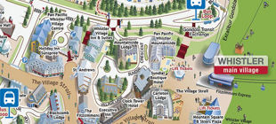 Whistler Village Map Our Whistler Retreat | Whistler Maps Whistler Village Map