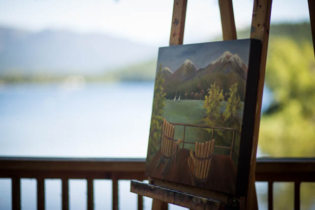 Art on the lake painting