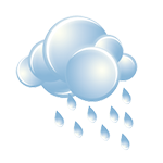 Mainly cloudy with showers, some heavy